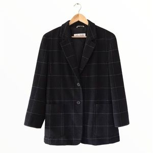 MaxMara | windowpane wool & angora blend blazer